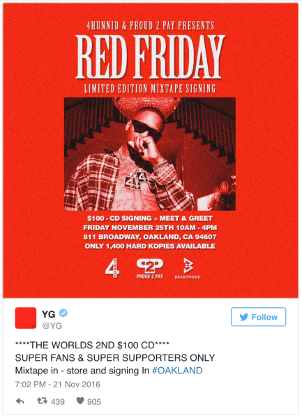 The signed, physical edition of Red Friday will be available at an in-store event in Oakland this Friday.