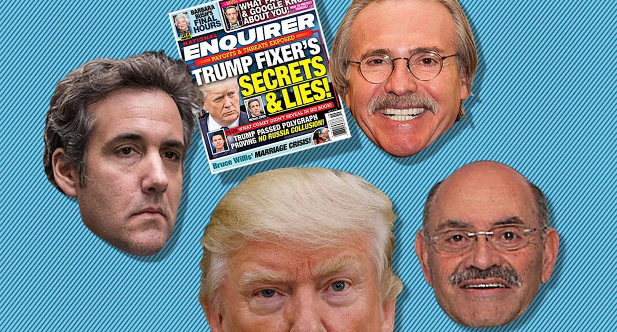 Michael Cohen, David Pecker, and Allen Weisselberg were all members of President Trump's inner circle. (Graphic: David Foster/Oath)