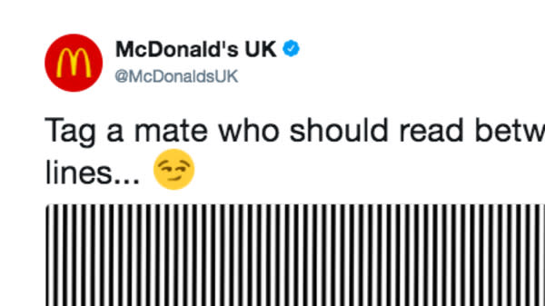 McDonald's U.K. released an optical illusion on social media last week and people aren't loving it.