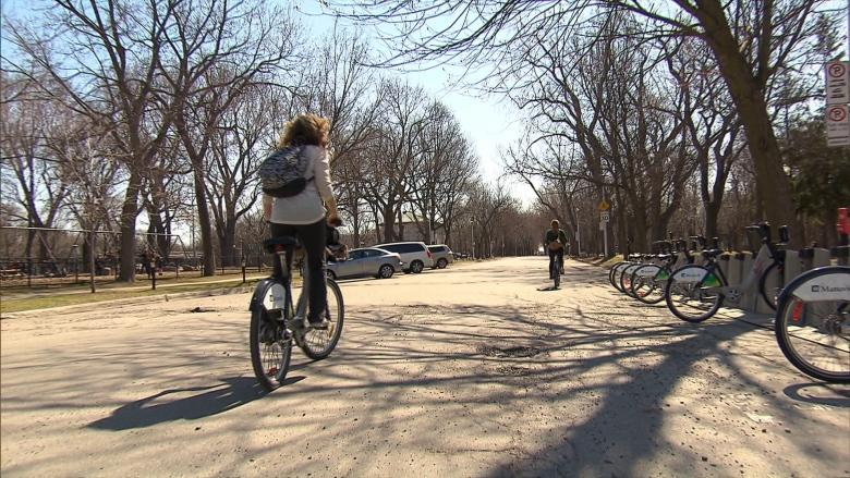 'It's scary': Bixi users worry about potholes on 1st day of season