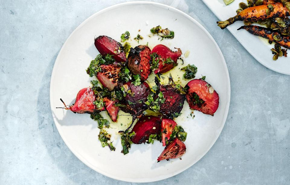 """Let's put it this way: If you like salsa verde, you'll love charmoula, a spiced marinade central to Algerian, Libyan, Moroccan, and Tunisian cooking. Try it with our <a href=""""http://www.bonappetit.com/recipe/grilled-brined-vegetables/?mbid=synd_yahoo_rss"""" rel=""""nofollow noopener"""" target=""""_blank"""" data-ylk=""""slk:Grilled Brined Vegetables"""" class=""""link rapid-noclick-resp"""">Grilled Brined Vegetables</a>. <a href=""""https://www.bonappetit.com/recipe/green-chile-charmoula?mbid=synd_yahoo_rss"""" rel=""""nofollow noopener"""" target=""""_blank"""" data-ylk=""""slk:See recipe."""" class=""""link rapid-noclick-resp"""">See recipe.</a>"""