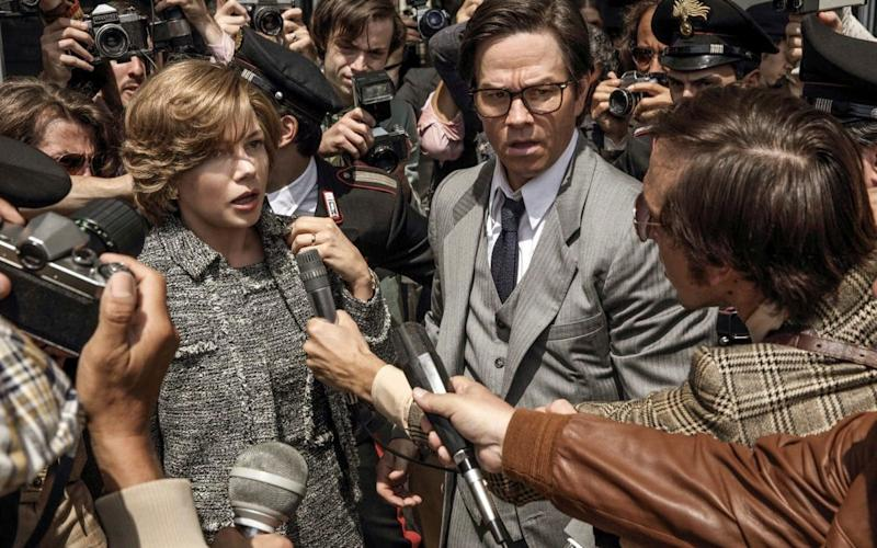 Michelle Williams, left, and Mark Wahlberg in TriStar Pictures'