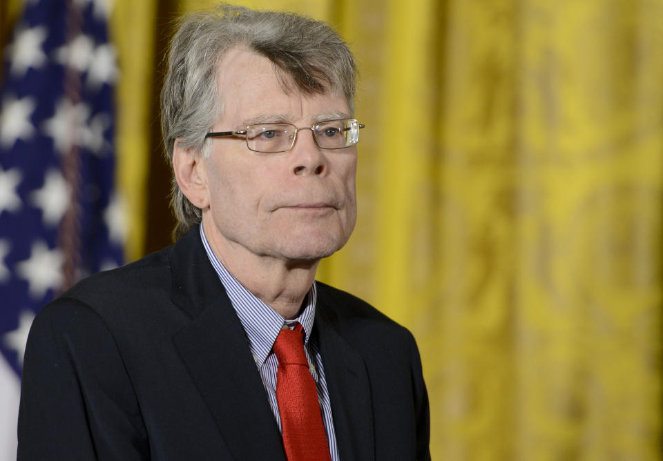 Author Stephen King (pictured in 2014) criticized President Trump's response to the coronavirus threat. (Photo: Leigh Vogel/WireImage)