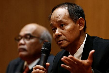 Malaysian Anti-Corruption Commission (MACC) Chief Commissioner Mohd Shukri Abdull speaks during a news conference in Putrajaya, Malaysia May 22, 2018. REUTERS/Lai Seng Sin