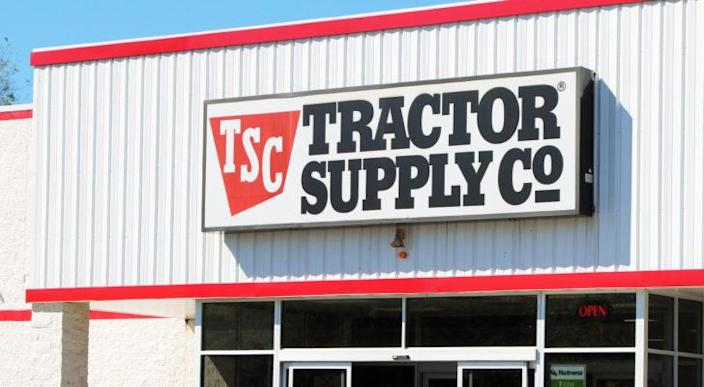 The exterior of a Tractor Supply (TSCO) store