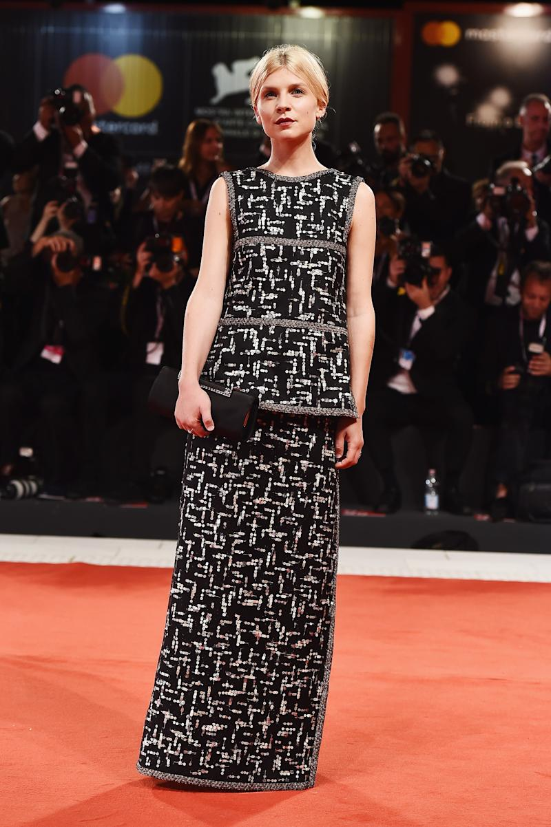 WHO: Clémence Poésy<br />WHAT: Chanel Haute Couture<br />WHERE: The Favourite premiere, Venice<br />WHEN: August 30, 2018