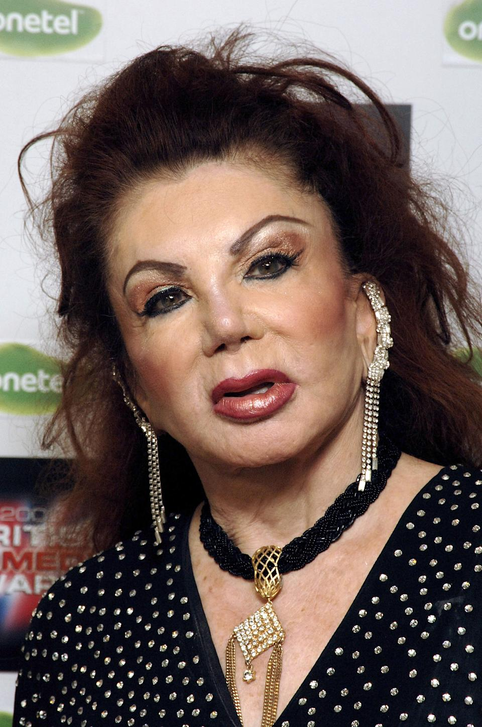 LONDON - DECEMBER 14:  (EMBARGOED FOR PUBLICATION IN UK TABLOID NEWSPAPERS UNTIL 48 HOURS AFTER CREATE DATE AND TIME)  Jackie Stallone arrives for the British Comedy Awards 2005 at London Television Studios on December 14, 2005 in London, England.  (Photo by Dave M. Benett/Getty Images)
