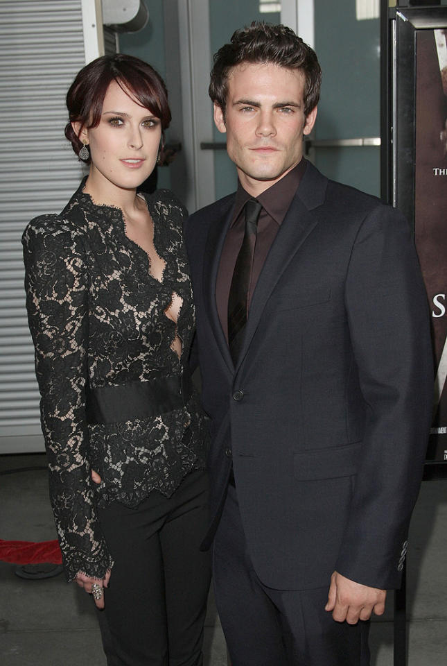 """<a href=""""http://movies.yahoo.com/movie/contributor/1800260809"""">Rumer Willis</a> and Micah Alberti at the Los Angeles premiere of <a href=""""http://movies.yahoo.com/movie/1810046336/info"""">Sorority Row</a> - 09/03/2009"""