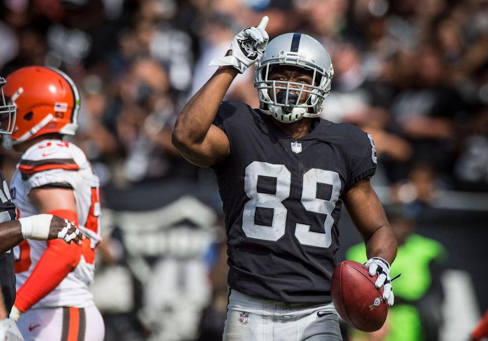 Raiders wideout Amari Cooper could be on the move as head coach Jon Gruden appears to be cleaning house. (Getty)