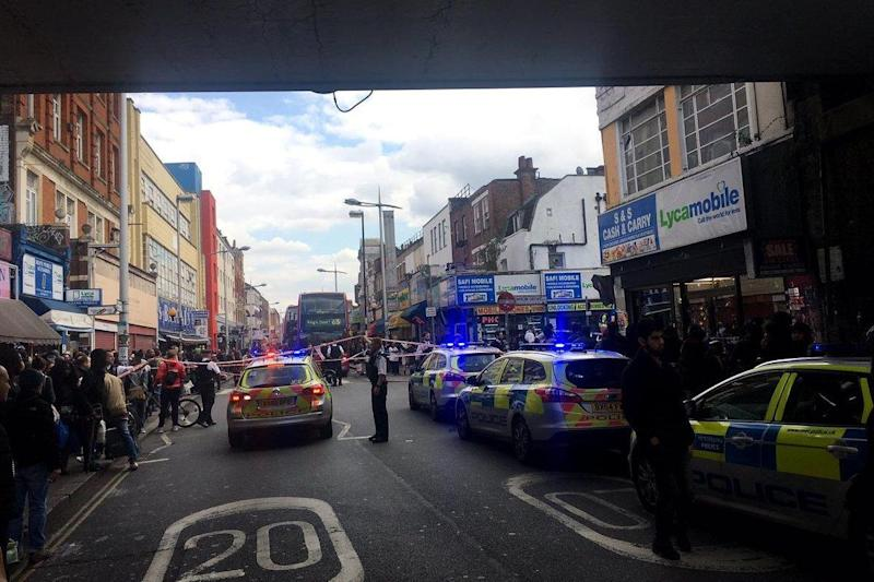 The man was stabbed outside the station. (Chad O'Carroll)