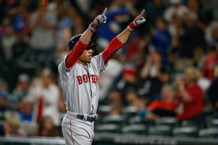 Mookie Betts came through for the Red Sox on Monday. (Getty Images/Otto Greule Jr.)