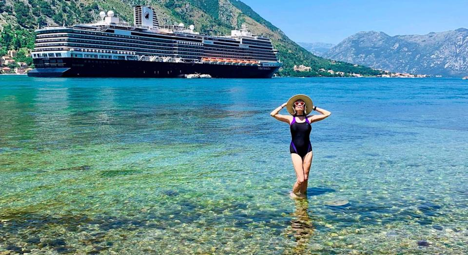 She became a travel blogger after a painful divorce. (SWNS)