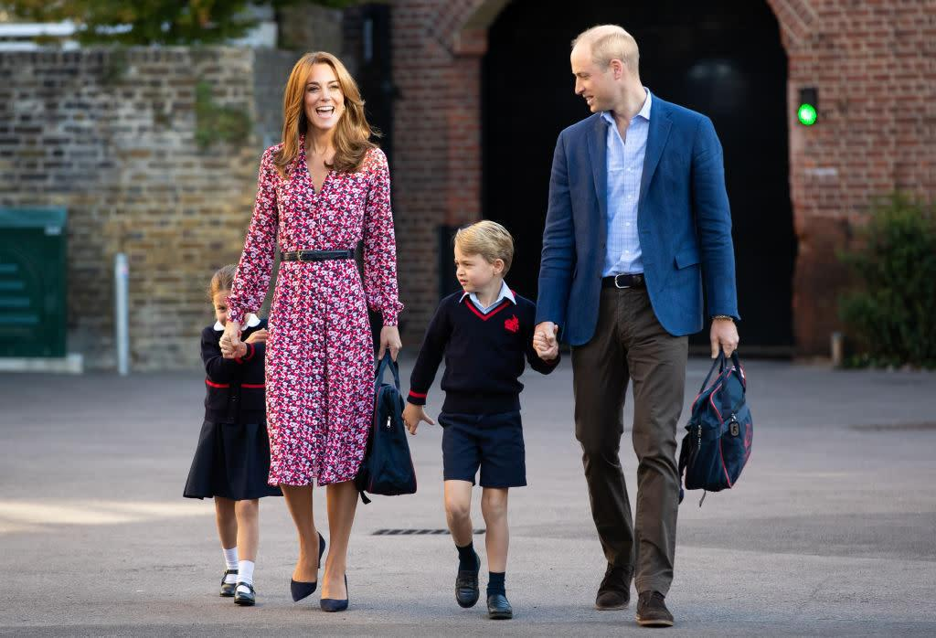 The Royal Family Was All Smiles for Princess Charlotte's First Day of School