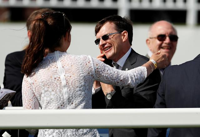 Horse Racing - Derby Festival - Epsom Downs Racecourse, Epsom, Britain - June 1, 2018 Trainer Aidan O'Brien looks on Action Images via Reuters/Andrew Boyers