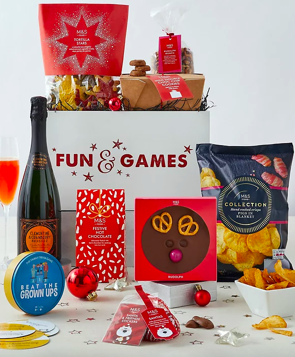 Family Christmas Food, Fun & Games Crate. (Marks & Spencer)
