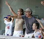 """<p>Through the years, parents Tom and Rita have worked very hard to keep all of their kids out of the spotlight. But here, the family made a rare public appearance at an LA Dodgers vs. St. Louis Cardinals baseball game on September 12. After growing up in a broken home (his father remarried twice; his mother, three times), Tom says Rita shaped his vision of a healthy home life: """"Honestly, I married into a classic old-world family structure in which people like to spend time with each other and construct their lives so they can. That hadn't been part of my existence up 'til then,"""" he <a href=""""http://www.oprah.com/omagazine/Oprah-Interviews-Tom-Hanks#ixzz3wbF1x7hI"""" rel=""""nofollow noopener"""" target=""""_blank"""" data-ylk=""""slk:told Oprah"""" class=""""link rapid-noclick-resp"""">told Oprah</a>. """"And you know what? In the 13 years Rita and I have been married, I've discovered there's no substitute for that. There's such an advantage to being involved in the day-to-day details of each other's lives. It's a marvelous fabric to exist in.""""</p>"""