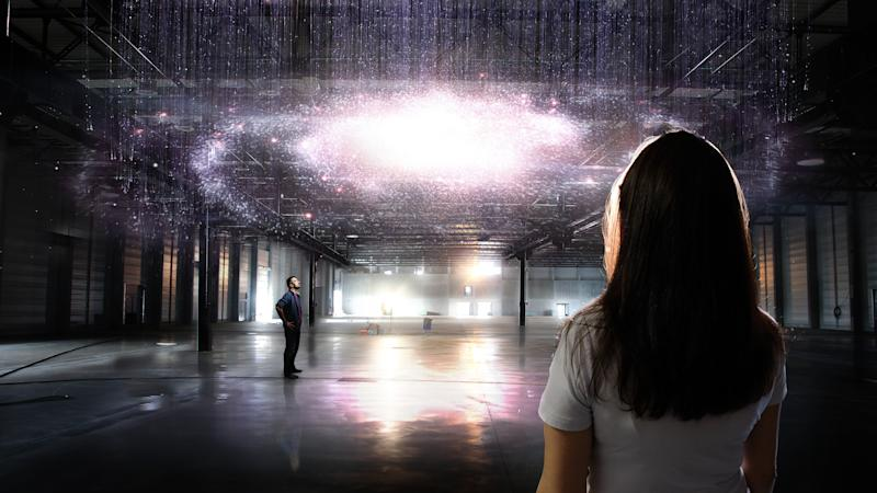 Concept art for Machin's Milky Way chandelier. Image: Cathrin Machin