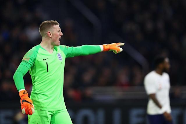 Pickford at Amsterdam Arena on March 23, 2018 in Amsterdam, Netherlands.