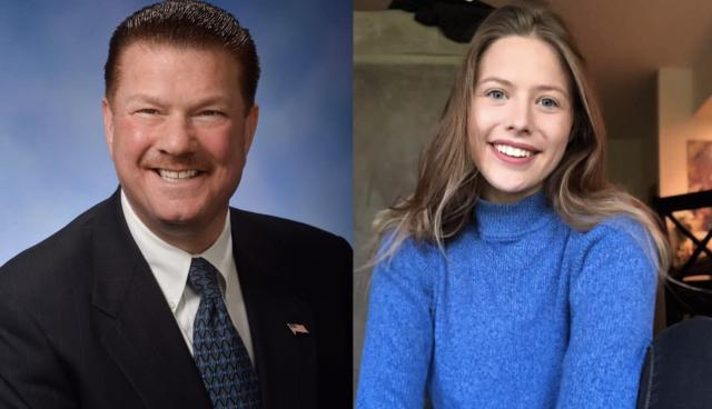 Pictured: Sen. Peter Lucido (Left) and Reporter Allison Donahue (Right)