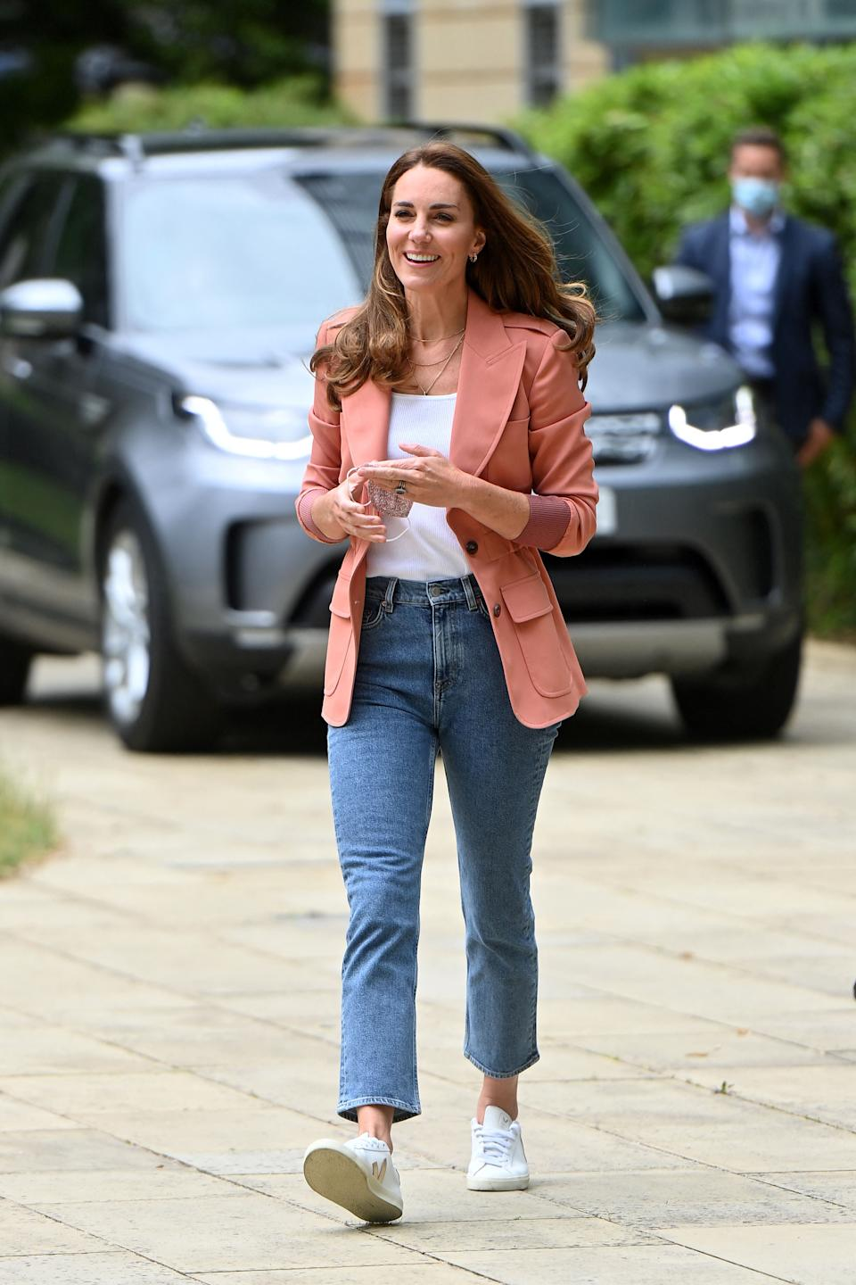 Britain's Catherine, Duchess of Cambridge, arrives to visit the Urban Nature Project at the Natural History Museum in central London on June 22, 2021. (Photo by Geoff PUGH / POOL / AFP) (Photo by GEOFF PUGH/POOL/AFP via Getty Images)