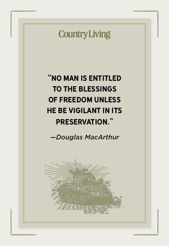 """<p>""""No man is entitled to the blessings of freedom unless he be vigilant in its preservation.""""-</p>"""