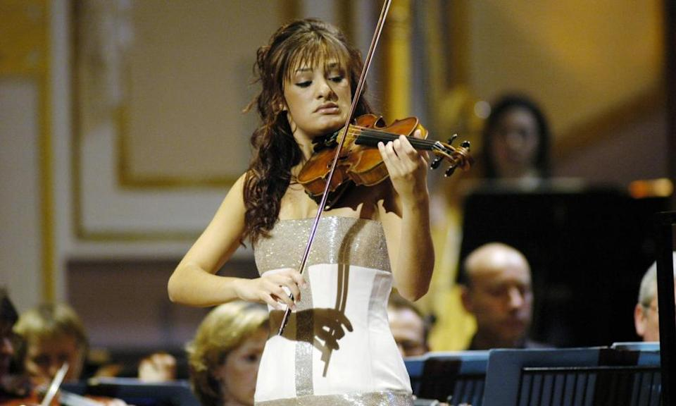 A 16-year-old Nicola Benedetti performing in the 2004 BBC Young Musician of the Year contest, which she went on to win.