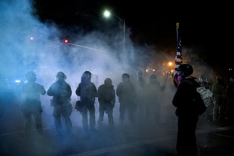 Suspect in killing of Portland protester shot dead by police