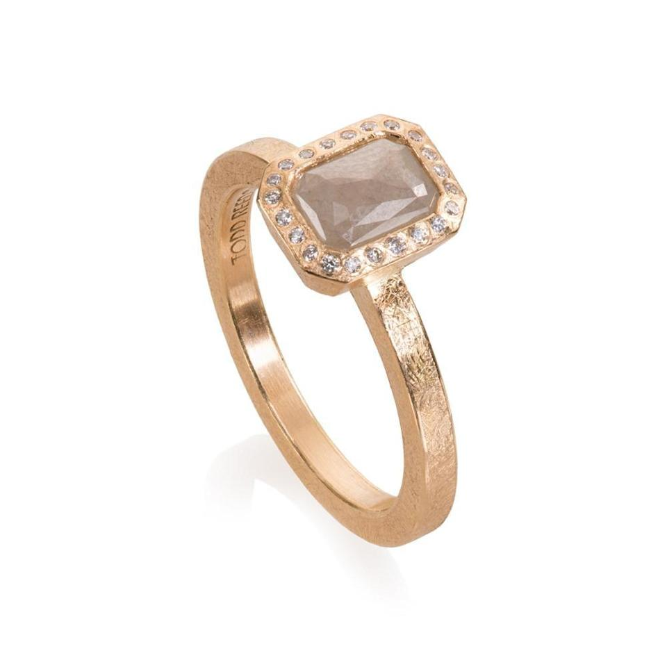 """<p>We love the simplicity of this 18k rose gold <a href=""""https://www.popsugar.com/buy/Todd-Reed-Ring-Fancy-Cut-Diamonds-530008?p_name=Todd%20Reed%20Ring%20With%20Fancy%20Cut%20Diamonds&retailer=toddreed.com&pid=530008&price=9%2C395&evar1=fab%3Aus&evar9=44555978&evar98=https%3A%2F%2Fwww.popsugar.com%2Fphoto-gallery%2F44555978%2Fimage%2F47001581%2FTodd-Reed-Ring-With-Fancy-Cut-Diamonds&list1=wedding%2Cjewelry%2Crose%20gold%2Cengagement%20rings&prop13=api&pdata=1"""" rel=""""nofollow noopener"""" class=""""link rapid-noclick-resp"""" target=""""_blank"""" data-ylk=""""slk:Todd Reed Ring With Fancy Cut Diamonds"""">Todd Reed Ring With Fancy Cut Diamonds </a> ($9,395).</p>"""