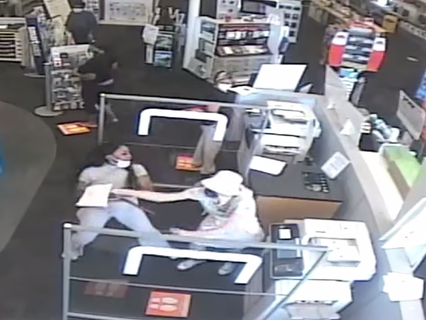 Footage of the incident was released by the authorities: (Hackensack Police Department)