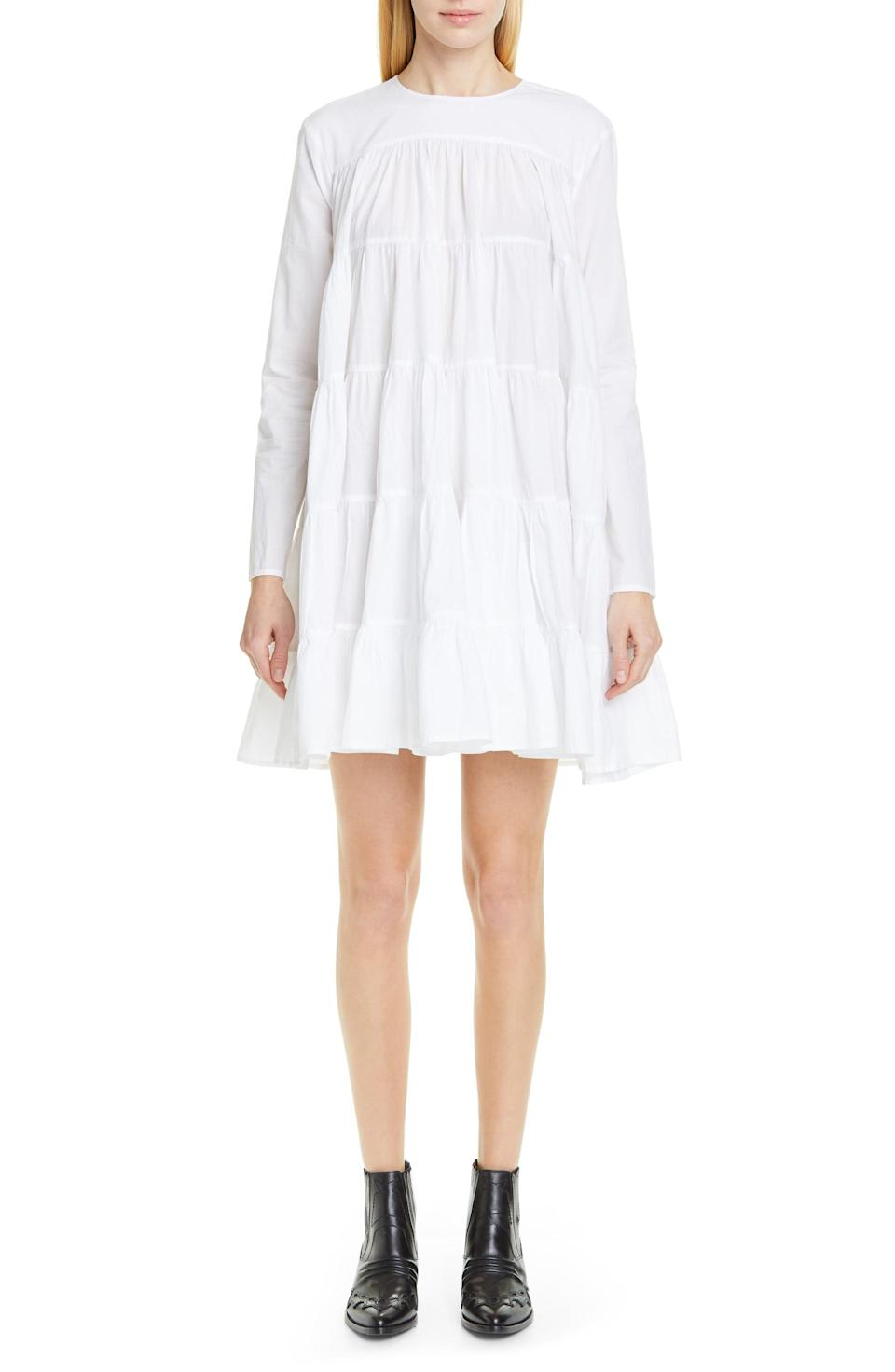 <p>Pair this <span>Merlette Soliman Tiered Minidress</span> ($320) with strappy sandals or chunky sneakers.</p>