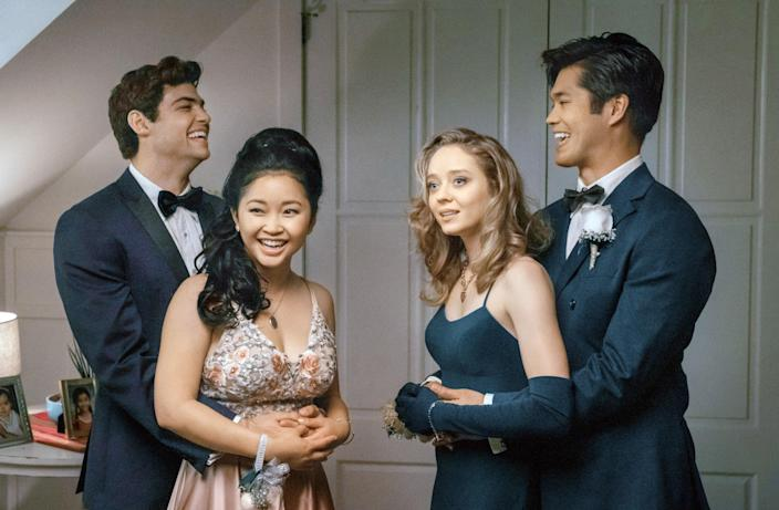 """<p>The final installment of this popular franchise finds Lara Jean and Peter about to graduate high school. As they debate what their future looks like—together or separate—their relationship is put to the test. </p> <p><a href=""""https://cna.st/affiliate-link/2Z6F81fjBAMUbaw55t2E8q41eU5eDQYHEH5vMP7s8X5gXGxyxd3zMWPNSLVfSbD6S5rxYoM8tGAYsiVuAMA5eB1VaJJJ?cid=602d5bc6d9be08b658a8a2ab"""" rel=""""nofollow noopener"""" target=""""_blank"""" data-ylk=""""slk:Available to stream on Netflix"""" class=""""link rapid-noclick-resp""""><em>Available to stream on Netflix</em></a></p>"""