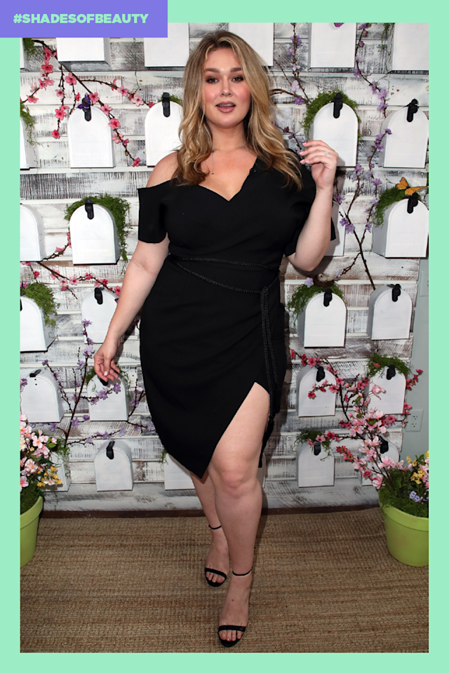 Plus-size model Hunter McGrady is on a mission to let people know we are #AllWorthy. (Photo: Getty Images; Art by Quinn Lemmers for Yahoo Lifestyle)