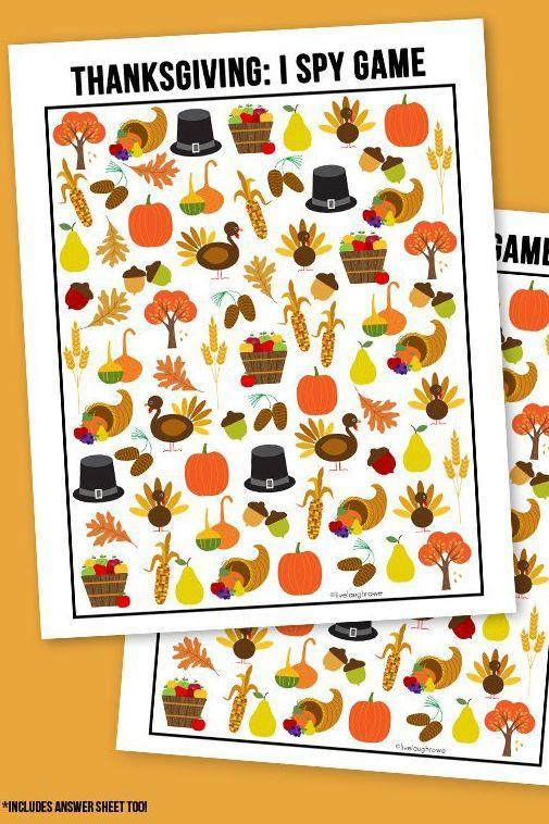 """<p>If there's one activity that will keep 'em occupied all dinner (heck, all day!), it's this scavenger hunt game.</p><p><strong>Get the tutorial at <a href=""""https://livelaughrowe.com/thanksgiving-i-spy-printable/"""" rel=""""nofollow noopener"""" target=""""_blank"""" data-ylk=""""slk:Live Laugh Rowe"""" class=""""link rapid-noclick-resp"""">Live Laugh Rowe</a>.</strong></p><p><strong><a class=""""link rapid-noclick-resp"""" href=""""https://www.amazon.com/Printworks-Cardstock-Certified-Projects-00554/dp/B076BG8RRV/?tag=syn-yahoo-20&ascsubtag=%5Bartid%7C10050.g.1201%5Bsrc%7Cyahoo-us"""" rel=""""nofollow noopener"""" target=""""_blank"""" data-ylk=""""slk:SHOP CARDSTOCK PAPER"""">SHOP CARDSTOCK PAPER</a><br></strong></p>"""