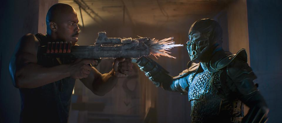 Mehcad Brooks as Jax and Joe Taslim as Sub-Zero in the first 'Mortal Kombat' trailer (Photo: Courtesy Warner Bros. Entertainment)