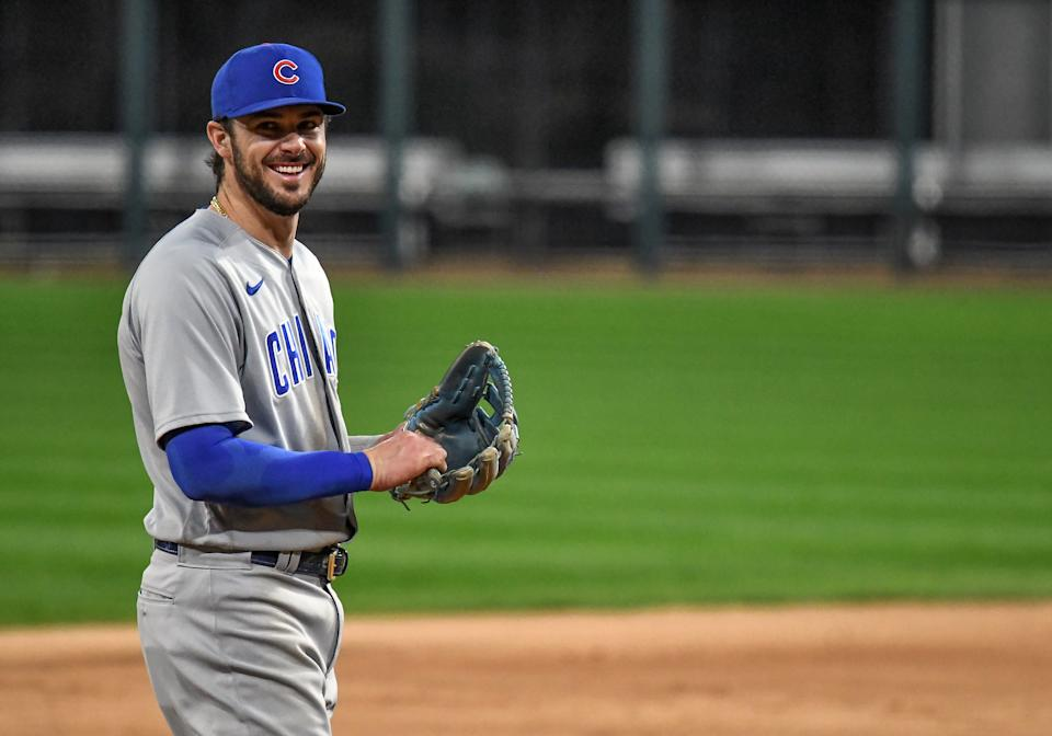 After Theo Epstein's departure, what does the future hold for Kris Bryant and Yu Darvish in Chicago? (Photo by Nick Wosika/Icon Sportswire via Getty Images)