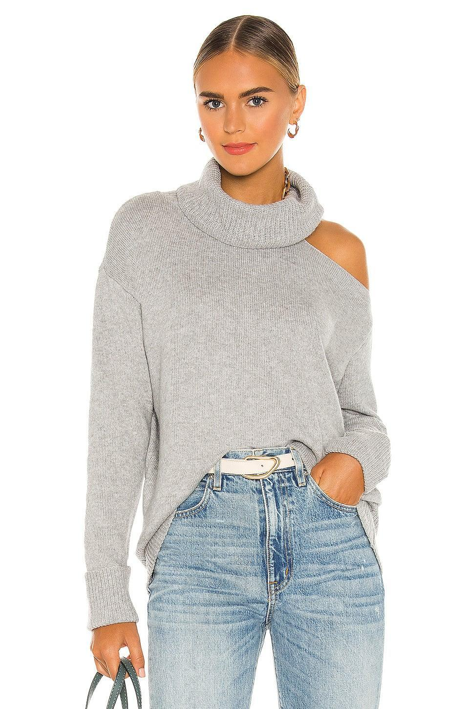 <p>This <span>1. State Turtleneck Cold Shoulder Sweater</span> ($79) is proving to be the silhouette of the season.</p>