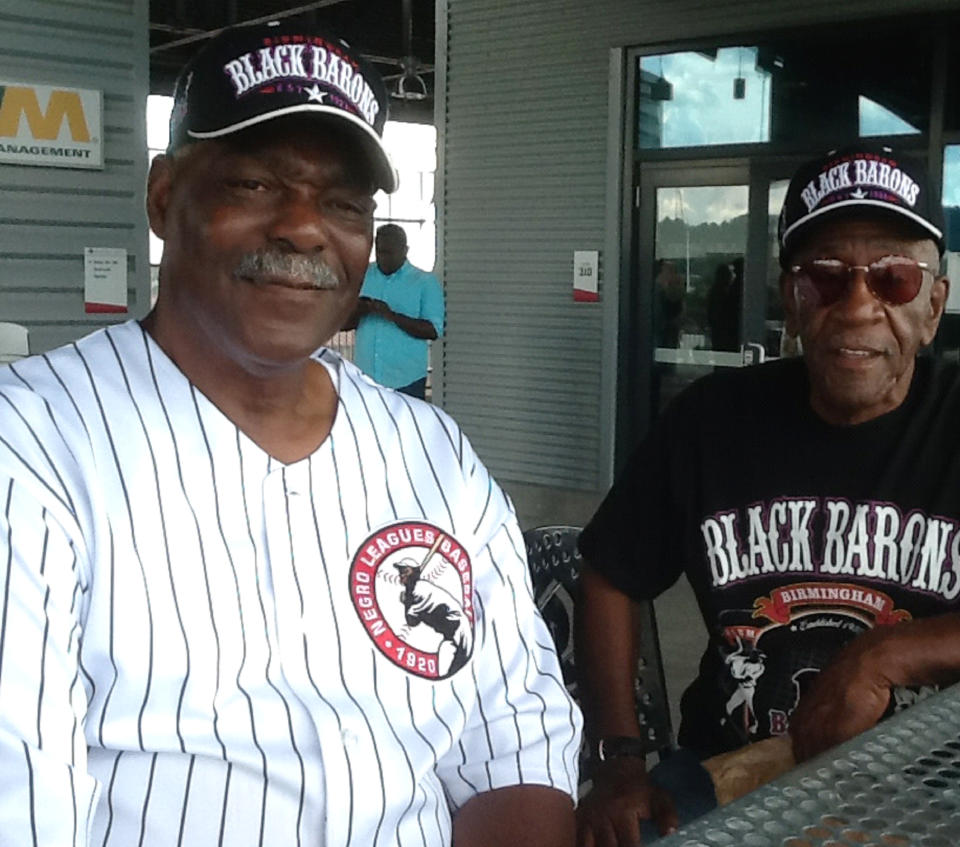 """MLB has officially recognized the Negro Leagues as a """"major league,"""" evaluating the careers of players like Robert Vickers (left) and Charlie Harris. Shown here in 2013."""