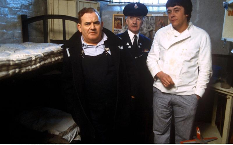 Ronnie Barker, Fulton Mackay and Richard Beckinsale in Porridge - Rex Features