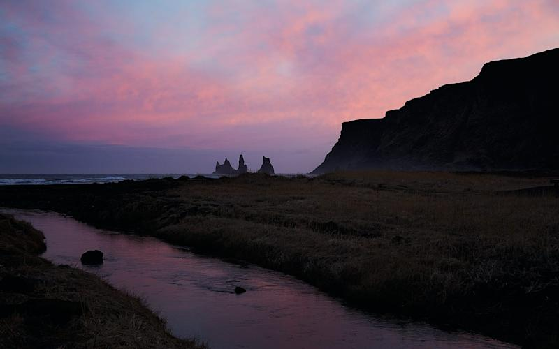 Sunset in Vík, southern Iceland - Credit: Laura Edwards