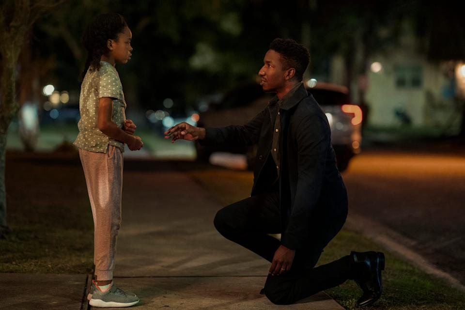 """""""Black Box"""" centers on a single father (Mamoudou Athie, with Amanda Christine) who undergoes an experimental treatment after losing his wife and memory in a car accident."""