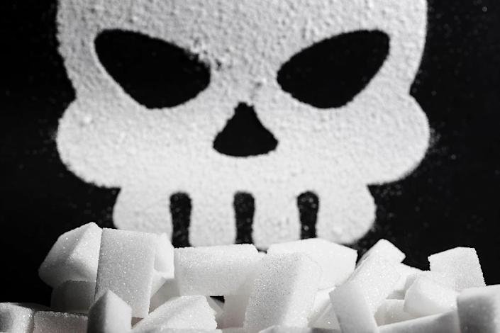 A skull made of sugar -- one of a large number of foodstuffs that have been associated with cancer risks or benefits, despite a lack of strong direct evidence (AFP Photo/JOEL SAGET)
