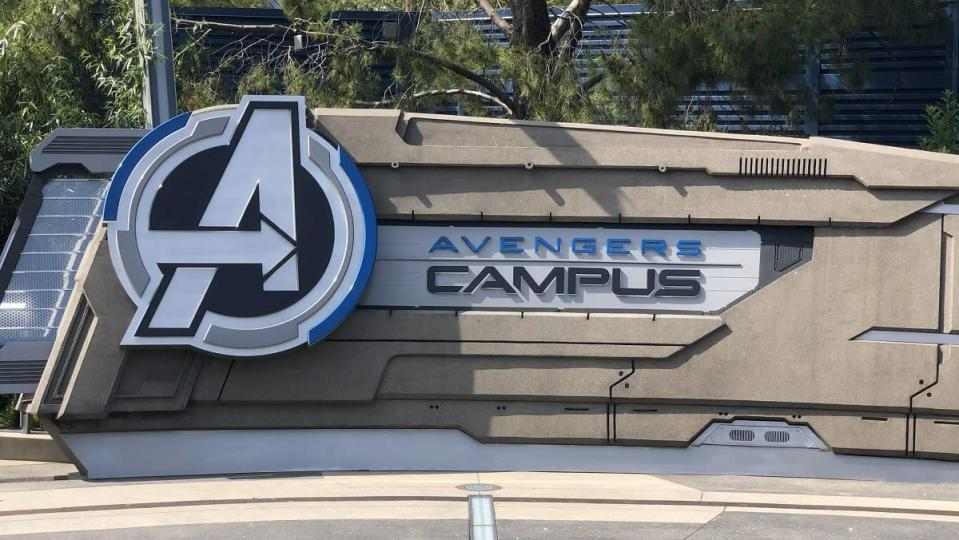 The entry way into Avengers Campus at Disney California Adventure.