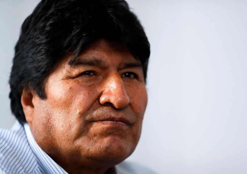 Former Bolivian President Evo Morales looks on during an interview with Reuters, in Buenos Aires