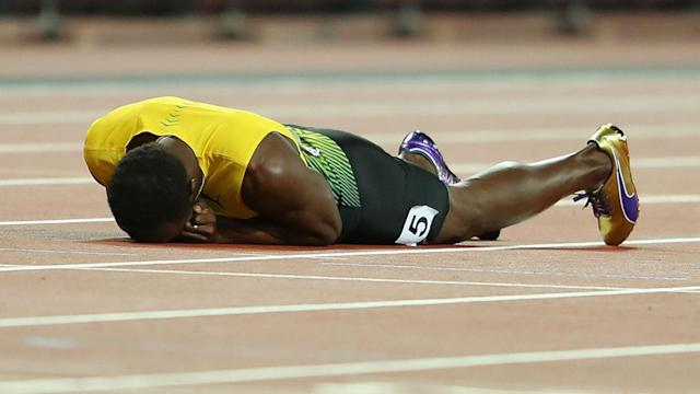 "Usain Bolt was injured in his final race and Yohan Blake felt organisers were partially to blame. ""They were holding us too long,"" he said."