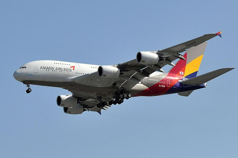 An Asiana Airlines Airbus A380: Wikimedia/Eric Salard