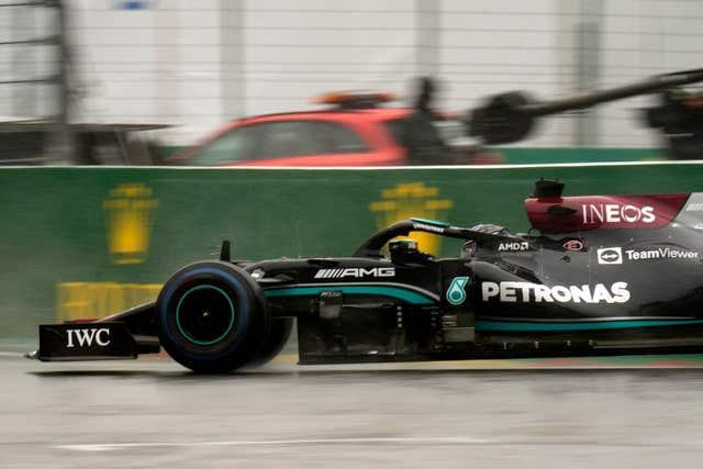 Lewis Hamilton was among those to criticise the decision to start the Belgian Grand Prix (Francisco Seco/PA)