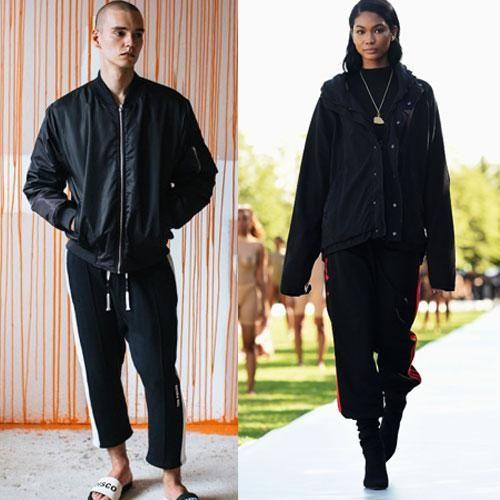'All black everythang' is a Yeezy staple look - but you'll also get the same chic look from Ten Pieces. Photo: Getty/Ten Pieces