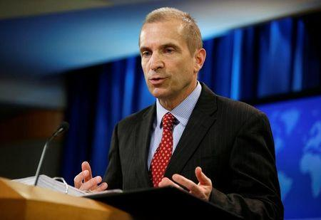 Acting State Department Spokesperson Mark Toner speaks during a news briefing at the State Department in Washington
