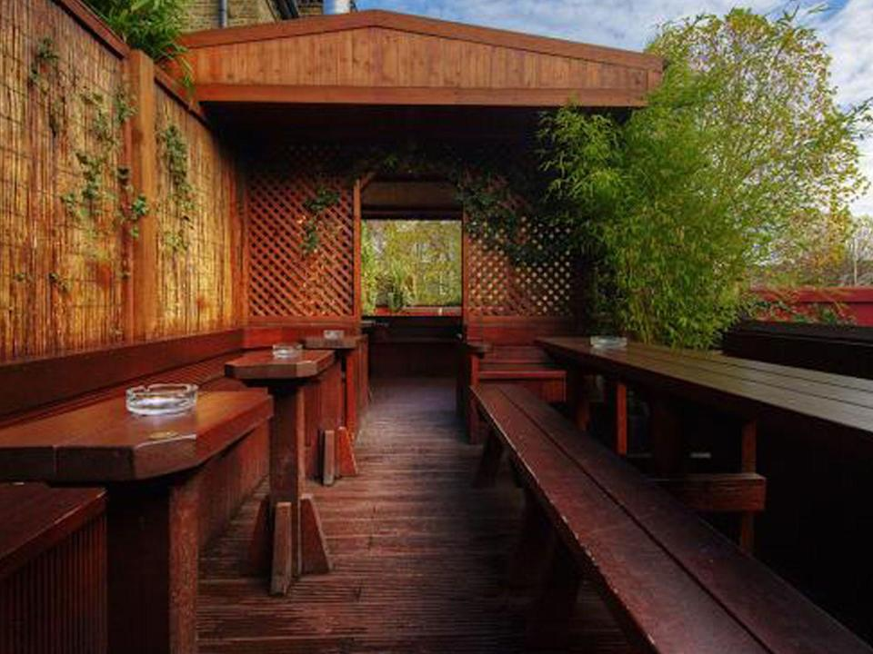 "<p>Step into the tiny backyard of this north London pub, then gaze up at the enormous tree house-like beer garden featuring stairs, gangways and terraces. Outdoor heaters make it the perfect winter retreat.</p><p><a href=""http://thefullback.co.uk/"" rel=""nofollow noopener"" target=""_blank"" data-ylk=""slk:thefullback.co.uk"" class=""link rapid-noclick-resp"">thefullback.co.uk</a><br></p>"