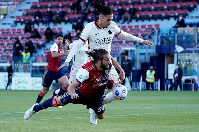 Chris Smalling made his return to action against Cagliari on Sunday